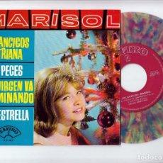 Discos de vinilo: MARISOL: DE COLORES- ZAFIRO-VILLANCICOS DE TRIANA-NUEVO. Lote 143626290