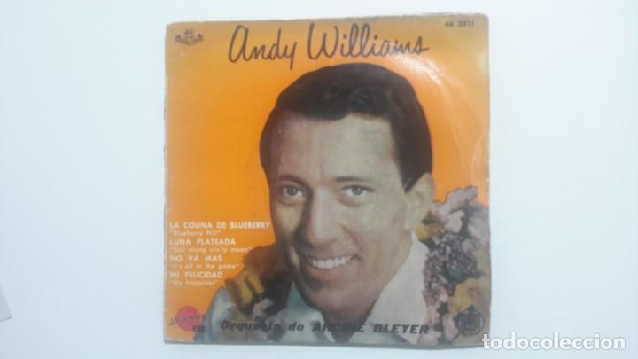Discos de vinilo: Andy Williams - La colina de Blueberry EP muy raro - Foto 1 - 143629450