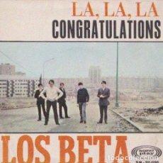 Discos de vinilo: LOS BETA - CONGRATULATIONS. Lote 143631466
