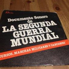 Discos de vinilo: DISCURSOS MARCHAS MILITARES CANCIONES II GUERRA MUNDIAL - SINGLE. Lote 143640414