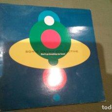 Discos de vinilo: SONIC DREAM COLLECTIVE-DON'T GO BREAKING MY HEART.MAXI SUECIA. Lote 143652362