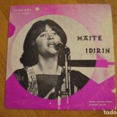 Discos de vinilo: MAITE IDIRIN - HAIZIA SORTZEN LP VINYL ELKAR. Lote 143656470