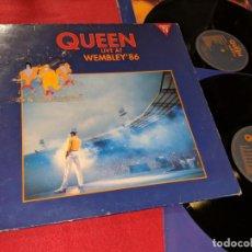 Discos de vinilo: QUEEN LIVE AT WEMBLEY'86 2LP 1992 PARLOPHONE GATEFOLD ESPAÑA SPAIN. Lote 143661298