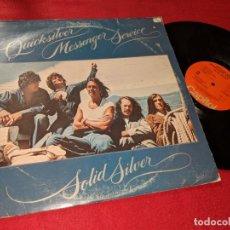 Discos de vinilo: QUICKSILVER MESSENGER SERVICE SOLID SILVER LP 1975 CAPITOL AMERICA USA. Lote 143661386