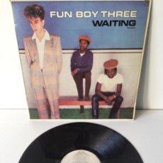 Discos de vinilo: FUN BOY THREE - WAITING - LP 1983. Lote 143661422