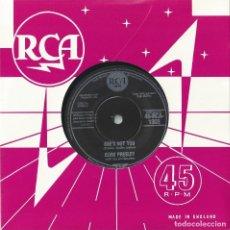Discos de vinilo: ELVIS PRESLEY 7 SINGLE SHES NOT YOU/JUST TELL HER JIM SAID.. RCA-1303 (COMPRA MINIMA 15 EUROS). Lote 143662982