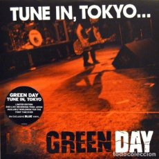 Discos de vinilo: GREEN DAY * LP RECORD STORE DAY 2014 * TUNE IN TOKYO * LTD VINILO AZUL + CUPÓN DESCARGA PRECINTADO!!. Lote 143664810