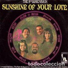 Discos de vinilo: THE 5TH DIMENSION* - SUNSHINE OF YOUR LOVE (7 SINGLE) LABEL:LIBERTY CAT#: 15 243 . Lote 143673166