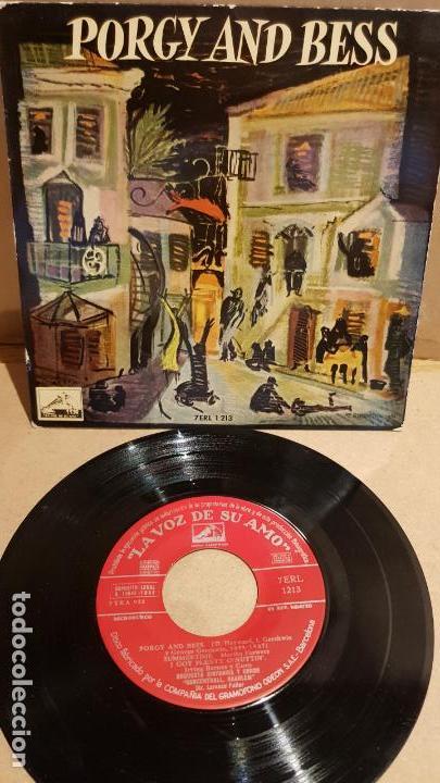 PORGY AND BESS / CONCERTHALL HAARLEM / ORQUESTA Y COROS / EP - 1958 / MBC. ***/*** (Música - Discos de Vinilo - EPs - Clásica, Ópera, Zarzuela y Marchas)