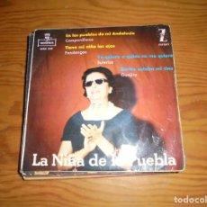 Discos de vinilo: LA NIÑA DE LA PUEBLA. EN LOS CAMPOS DE MI ANDALUCIA + 3. EP. MONTILLA ZAFIRO, 1962. Lote 143687998