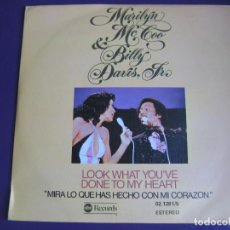 Discos de vinilo: MARILYN MCCOO & BILLY DAVIS, JR.SG ABC 1977 - LOOK WHAT YOU'VE DONE TO MY HEART +1 FUNK SOUL DISCO . Lote 143695174