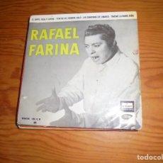 Discos de vinilo: RAFAEL FARINA. EL CANTE, ROSA Y ESPINA + 3. EP. ODEON, 1958. Lote 143697774