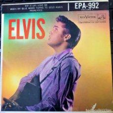 Discos de vinilo: ELVIS PRESLEY - ELVIS - EP 45 RPM ORIGINAL USA 1956 - 1ªEDICIÓN. EPA-992. Lote 143701990