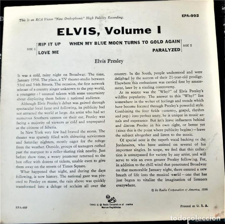 Discos de vinilo: ELVIS PRESLEY - ELVIS - EP 45 RPM ORIGINAL USA 1956 - 1ªEDICIÓN. EPA-992 - Foto 3 - 143701990