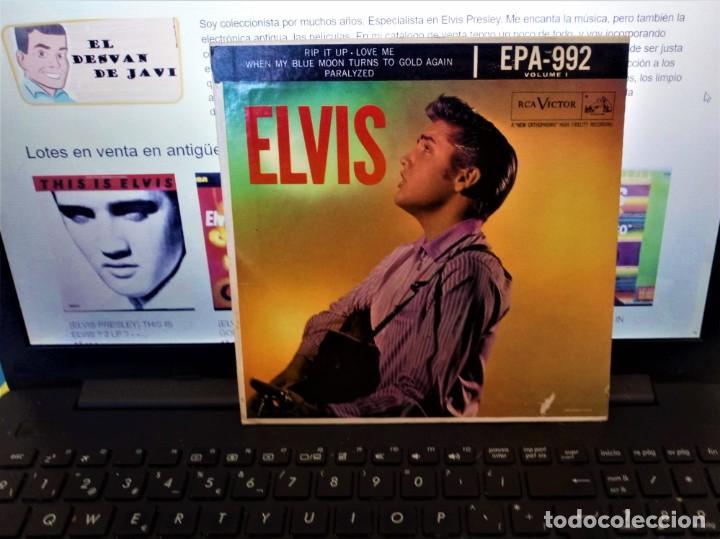 Discos de vinilo: ELVIS PRESLEY - ELVIS - EP 45 RPM ORIGINAL USA 1956 - 1ªEDICIÓN. EPA-992 - Foto 10 - 143701990