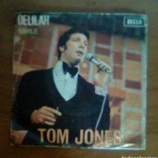 Discos de vinilo: TOM JONES - DELILAH, 1968, DECCA. SPAIN.. Lote 143711033