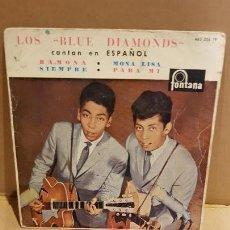 Discos de vinilo: LOS BLUE DIAMONDS CANTAN EN ESPAÑOL / RAMONA / EP-FONTANA - 1961 / MBC. ***/***. Lote 143714494