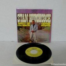 Discos de vinilo: STAN HITCHCOCK - JUST CALL ME LONESOME / LLAMAME SOLITARIO + 3 -EP- EPIC 1965 SPAIN 9022 COMO NUEVO. Lote 143718250