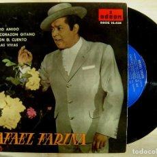 Discos de vinilo: RAFAEL FARINA - MI PERRO AMIGO / DE MI CORAZON GITANO / VETE CON EL CUENTO / CANDELAS VIVAS EP 1961. Lote 143719450