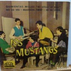 Discos de vinilo: LOS MUSTANG -QUINIENTAS MILLAS -1 EP DEL GRUPO. Lote 143724654