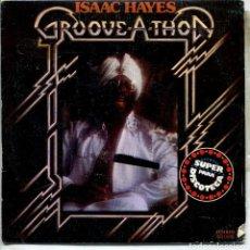 Discos de vinilo: ISAAC HAYES / GROOVE - A -THON (PARTES 1 Y 2) SINGLE 1976. Lote 143726602