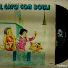 Discos de vinilo: TEATRO INFANTIL SAMANIEGO - EL GATO CON BOTAS - 1970 - YUPY. Lote 143730234