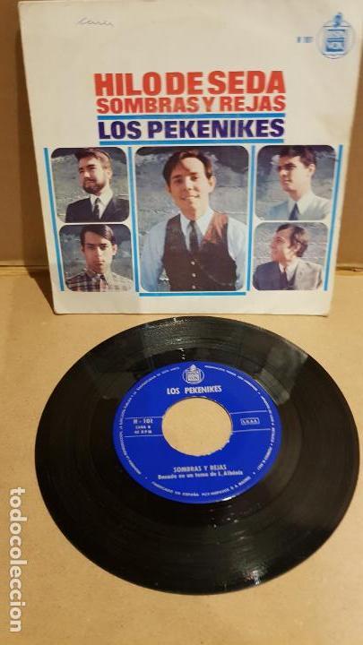 LOS PEKENIKES / HILO DE SEDA / SINGLE-HISPAVOX-1966 / MBC. ***/*** (Música - Discos - Singles Vinilo - Grupos Españoles 50 y 60)
