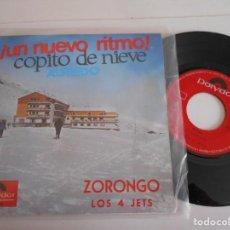 Discos de vinilo: LOS 4 JETS + ALFREDO-SINGLE ZORONGO. Lote 143734622