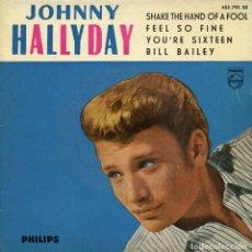 Discos de vinilo: JOHNNY HALLYDAY. SHAKE THE HAND OF A FOOL. SINGLE EP VINILO 1963. RARO. Lote 143737062