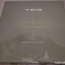Discos de vinilo: YES - OWNER OF A LONELY HEART - MAXISINGLE EDICION INGLESA DEL AÑO 1983.. Lote 143740438