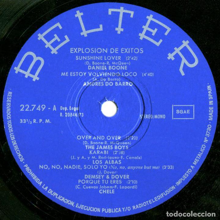 Discos de vinilo: VVAA - Explosión de exitos - Lp Spain 1973 - Belter 22.749 - Foto 3 - 143746258