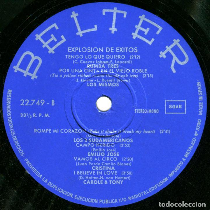 Discos de vinilo: VVAA - Explosión de exitos - Lp Spain 1973 - Belter 22.749 - Foto 4 - 143746258