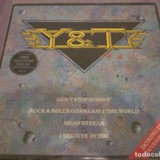 Discos de vinilo: Y & T - DON'T STOP RUNNIN' - MAXISINGLE EDICION UK DEL AÑO 1984.. Lote 143751542