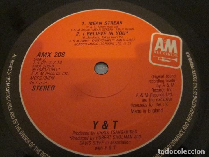 Discos de vinilo: Y & T - DONT STOP RUNNIN - MAXISINGLE EDICION UK DEL AÑO 1984. - Foto 4 - 143751542