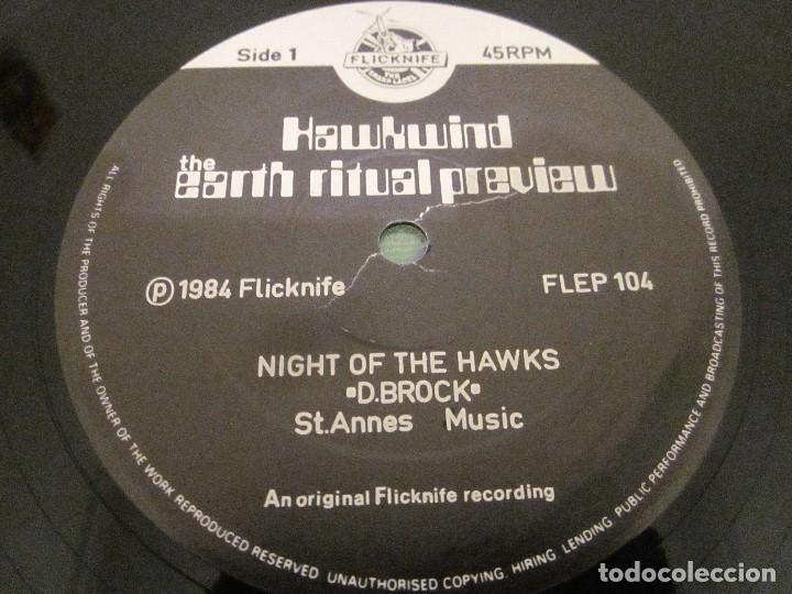 Discos de vinilo: HAWKWIND - NIGHT OF THE HAWKS - MAXI EDICION DEL AÑO 1984. - Foto 3 - 143752170