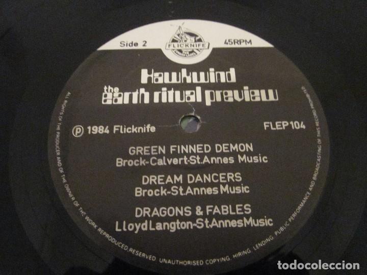 Discos de vinilo: HAWKWIND - NIGHT OF THE HAWKS - MAXI EDICION DEL AÑO 1984. - Foto 4 - 143752170