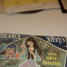 Discos de vinilo: BAL-7 DISCO CHICO 7 PULGADAS BLANCANIEVES Y LOS SIETE ENANITOS DISCOPHON . Lote 143755498