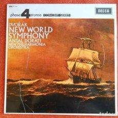 Discos de vinilo: DVOAK NEW WORLD SYMPHONY ANTAN DORATI NEW PHILHARMONICA ORCHESTA. Lote 143760966