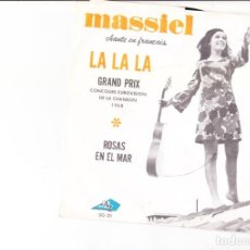 Discos de vinilo: GRAND PRIX EUROSVISION SPAIN 1968 LA LA LA FRENCH VERSION. Lote 143774110