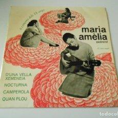 Discos de vinilo: MARIA AMÈLIA PEDREROL, EP, D´UNA VELLA XEMENEIA + 3, AÑO 1965. Lote 143780510