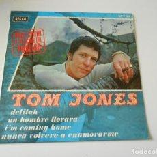 Discos de vinilo: TOM JONES, EP, DELILAH + 3, AÑO 1968. Lote 143780878