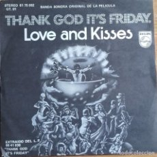 Discos de vinilo: LOVE & KISSES: THANK GOD IT'S FRIDAY BANDA SONORA ORIGINAL. Lote 143787554