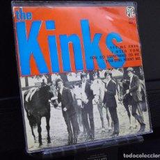 Discos de vinilo: THE KINKS --EP. --SET ME FREE ---I NEED YOU + 2 --ORIGINAL AÑO 1965---- PYE 2083. Lote 143789086