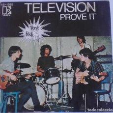 Discos de vinilo: TELEVISION: PROVE IT . Lote 143790102