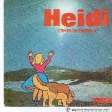 Discos de vinilo: HEIDI CANTA EN ESPAÑOL, DIME ABUELITO Y OYE. SINGLE RCA 1975.. Lote 143793438