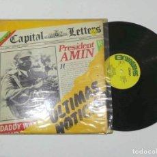 Discos de vinilo: LP DE VINILO CAPITAN LETTERS PRESIDENT AMIN. Lote 143794262