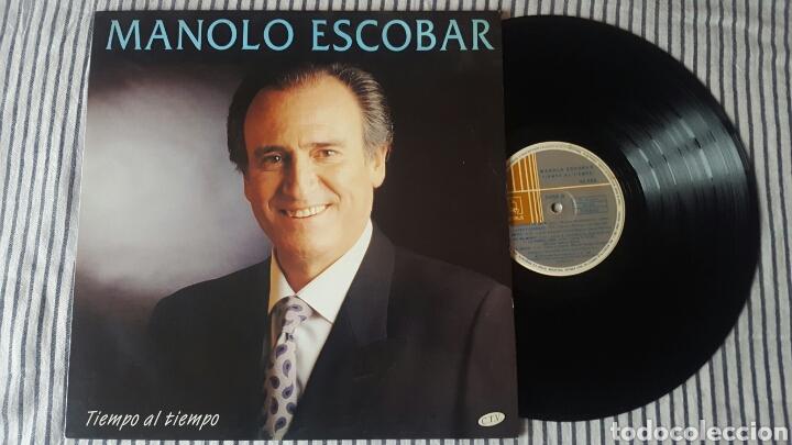 MANOLO ESCOBAR TIEMPO AL TIEMPO LP 1994 RARO EN VINILO (Música - Discos - LP Vinilo - Otros Festivales de la Canción)