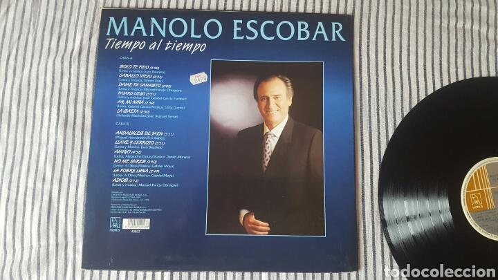 Discos de vinilo: Manolo Escobar tiempo al tiempo LP 1994 Raro en Vinilo - Foto 2 - 143795678