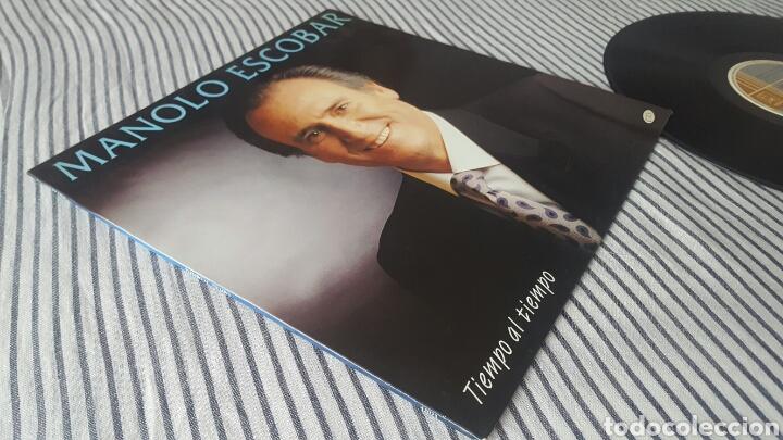 Discos de vinilo: Manolo Escobar tiempo al tiempo LP 1994 Raro en Vinilo - Foto 7 - 143795678