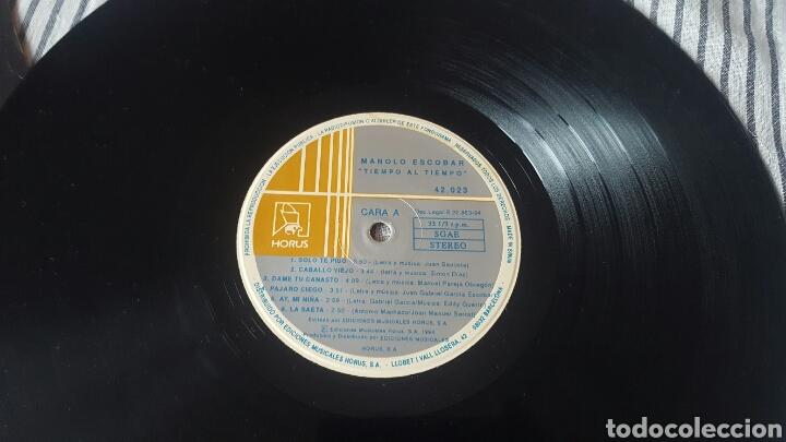 Discos de vinilo: Manolo Escobar tiempo al tiempo LP 1994 Raro en Vinilo - Foto 8 - 143795678